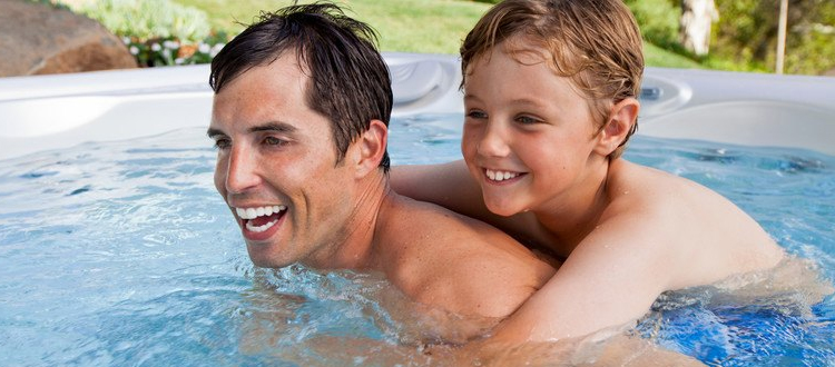 children in hot tub benefit and safety with adult