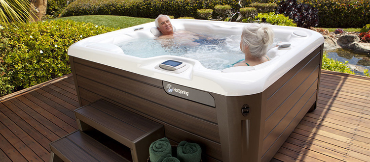 elderly in hot tub