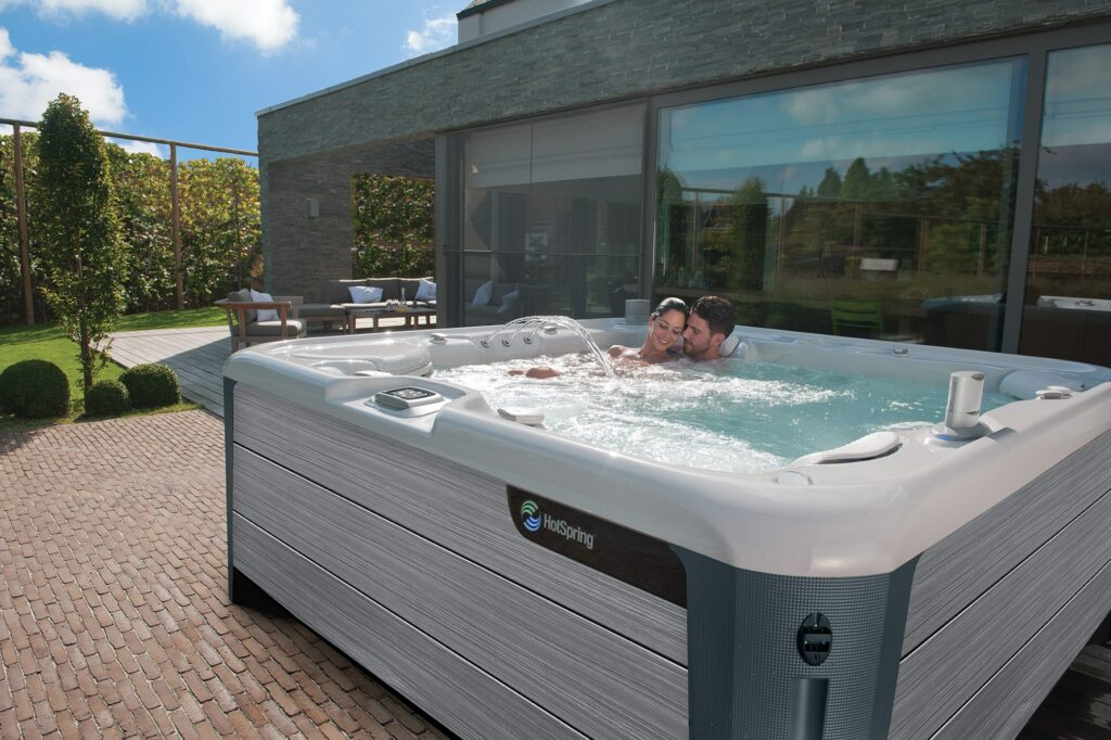 Hot Spring Highlife Envoy Hot Tub Couple Lifestyle in Los Angeles
