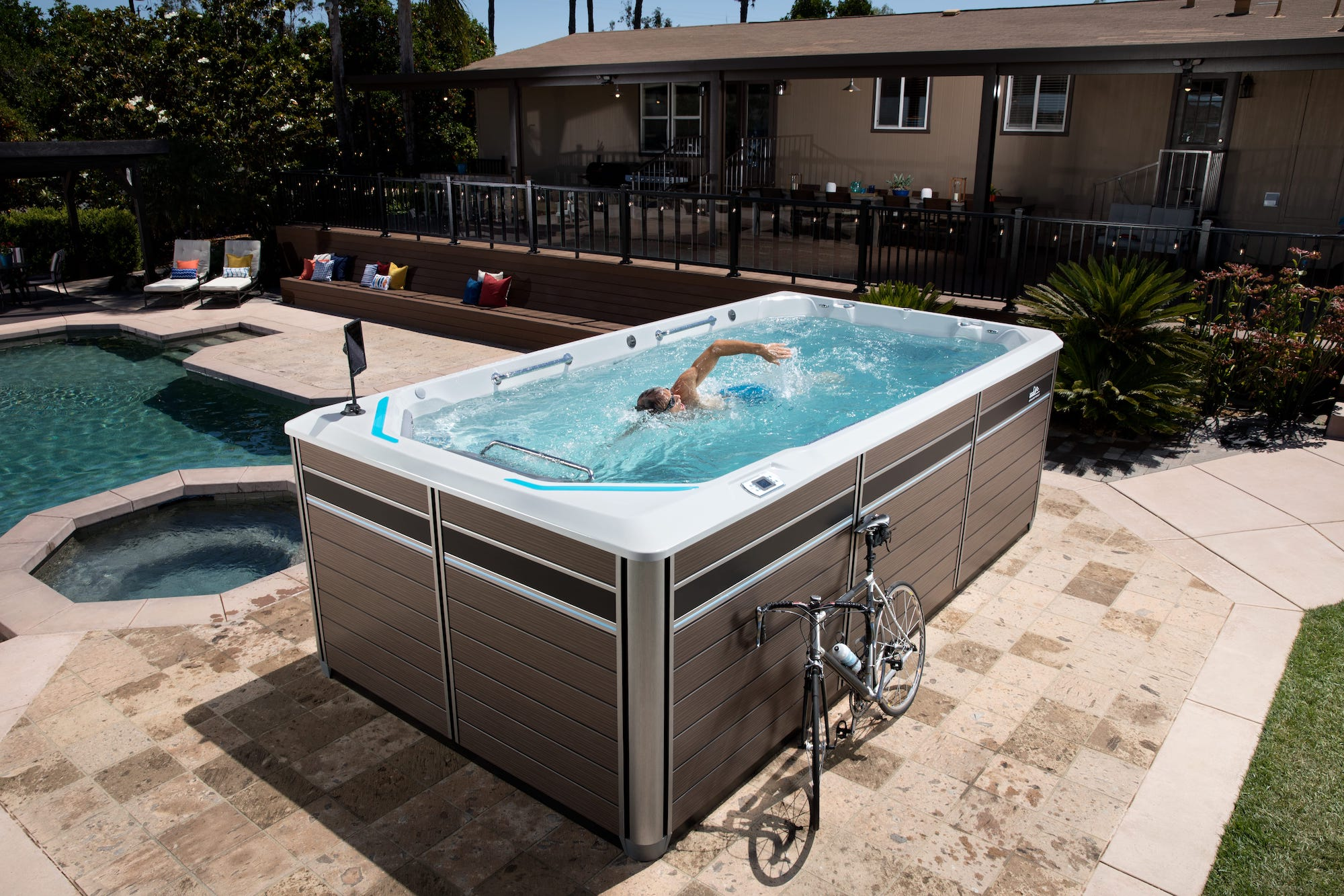 Endless Pools E550 Swim Spa at Lifestyle Outdoor in Los Angeles