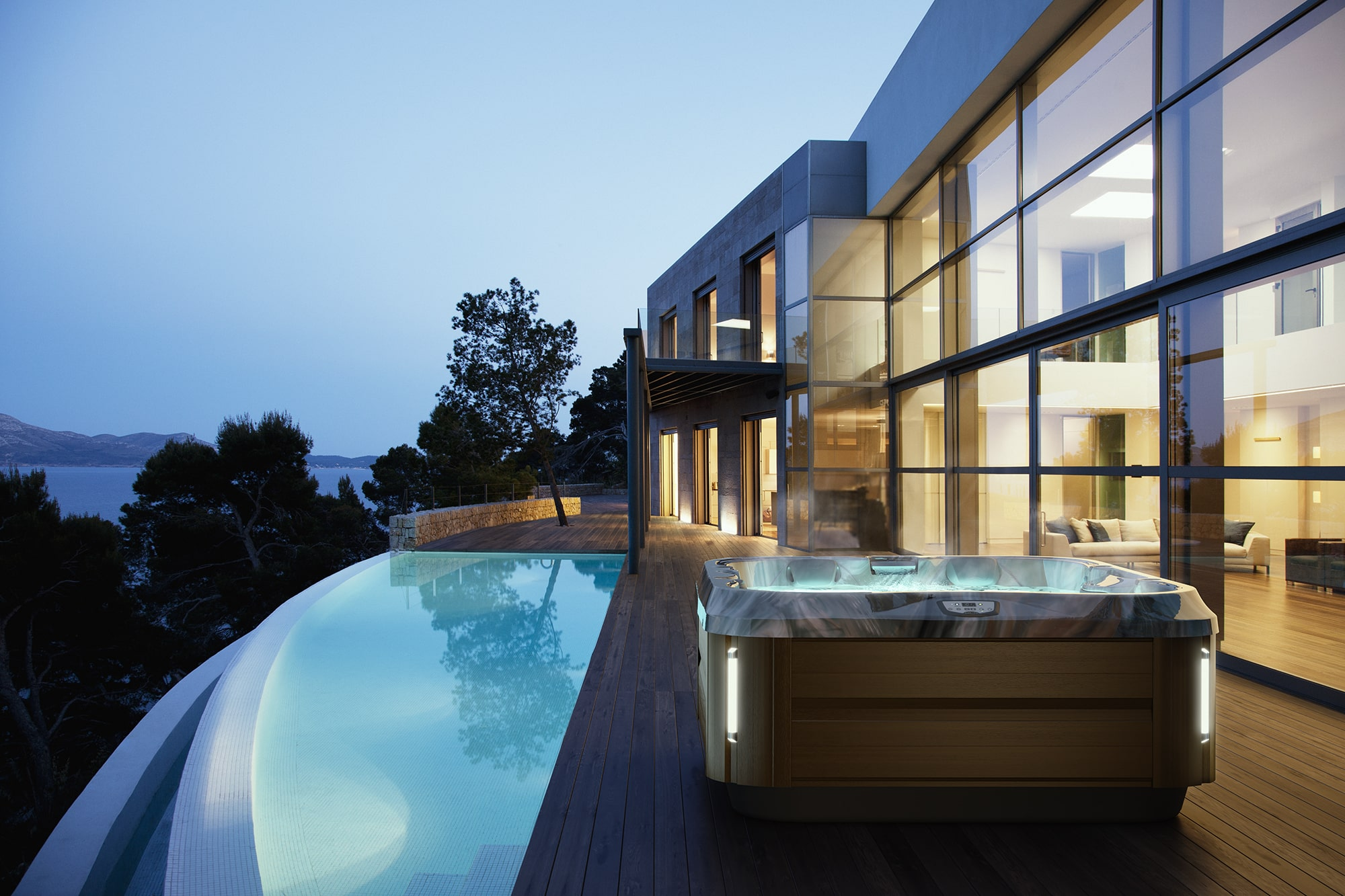 J-325 Jacuzzi Hot Tub Installation in Los Angeles, California