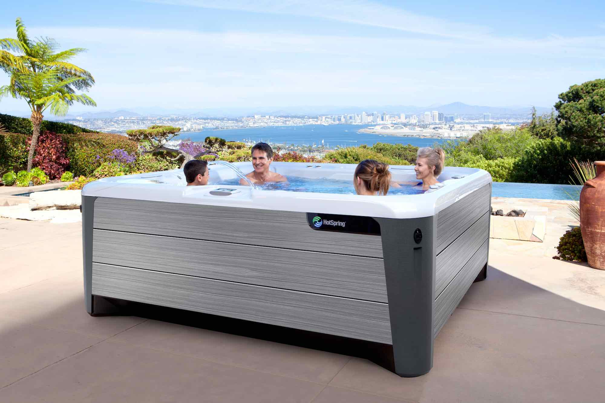 Hot Spring Spas Grandee Hot Tub at Lifestyle Outdoor in Los Angeles, California