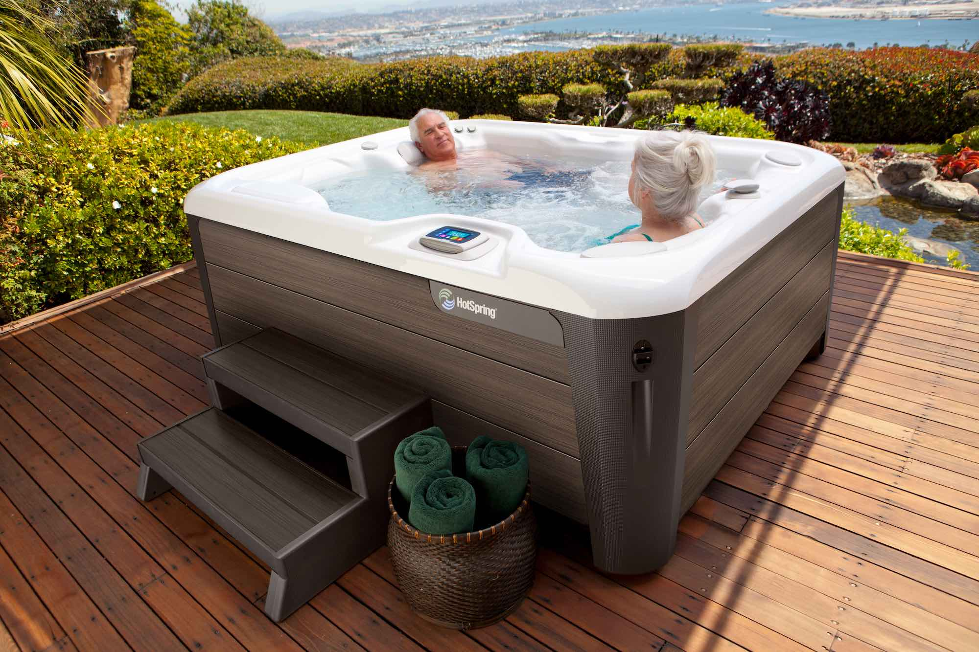 Hot Spring Spas Jetsetter Hot Tub at Lifestyle Outdoor in Los Angeles, California
