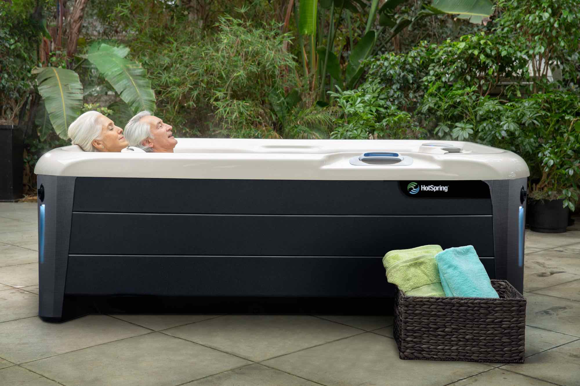 Hot Spring Spas Jetsetter XL Hot Tub at Lifestyle Outdoor in Los Angeles, California