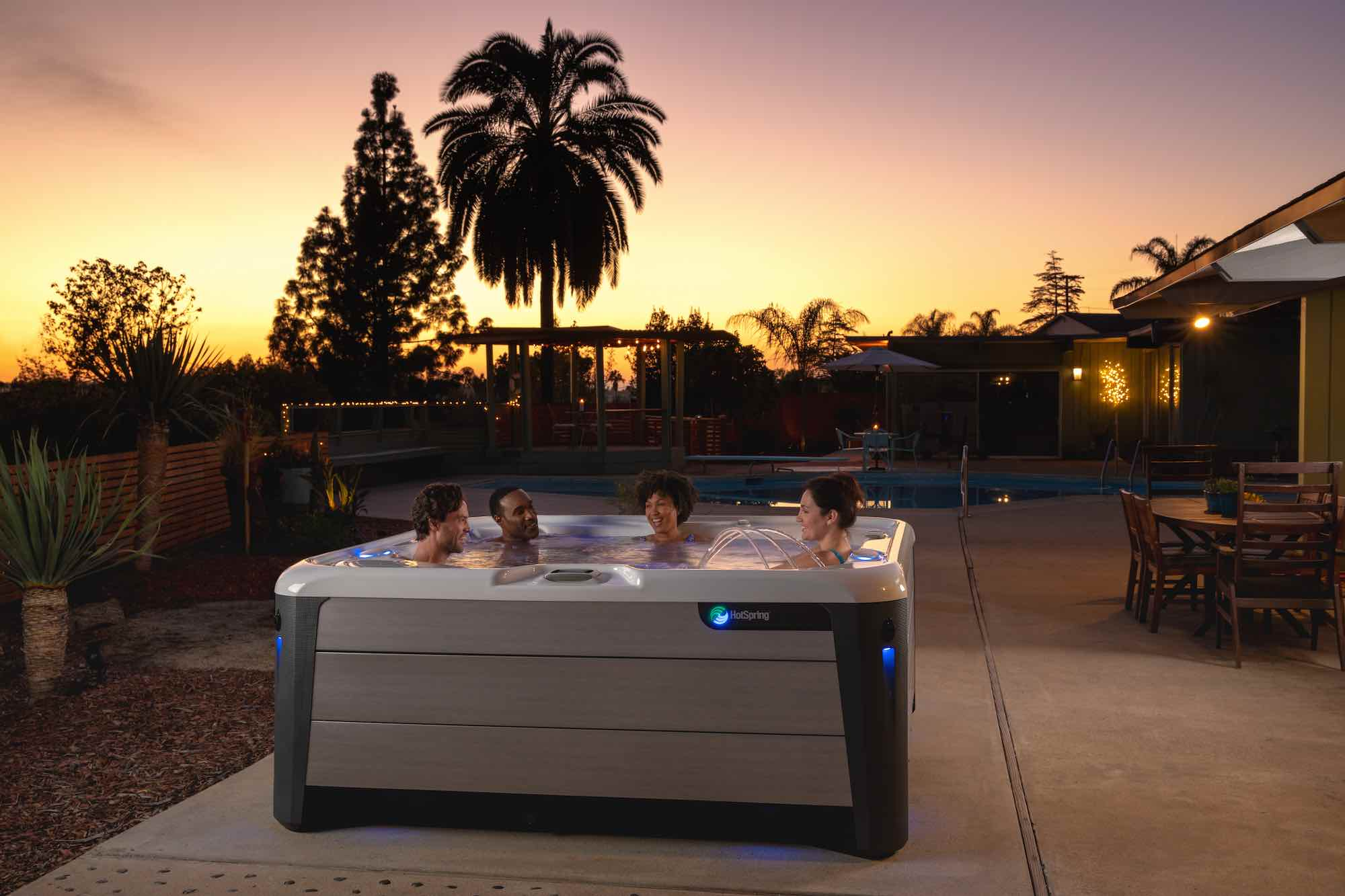 Hot Spring Spas Vanguard Hot Tub at Lifestyle Outdoor in Los Angeles, California