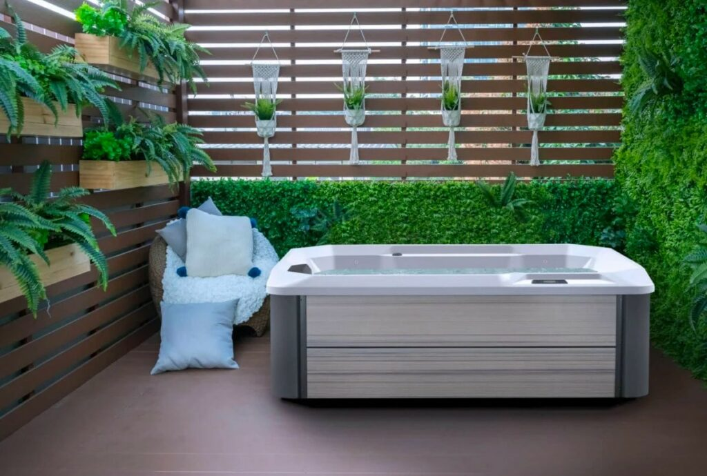 Hot Spring Spas Stride Hot Tub at Lifestyle Outdoor in Los Angeles, California