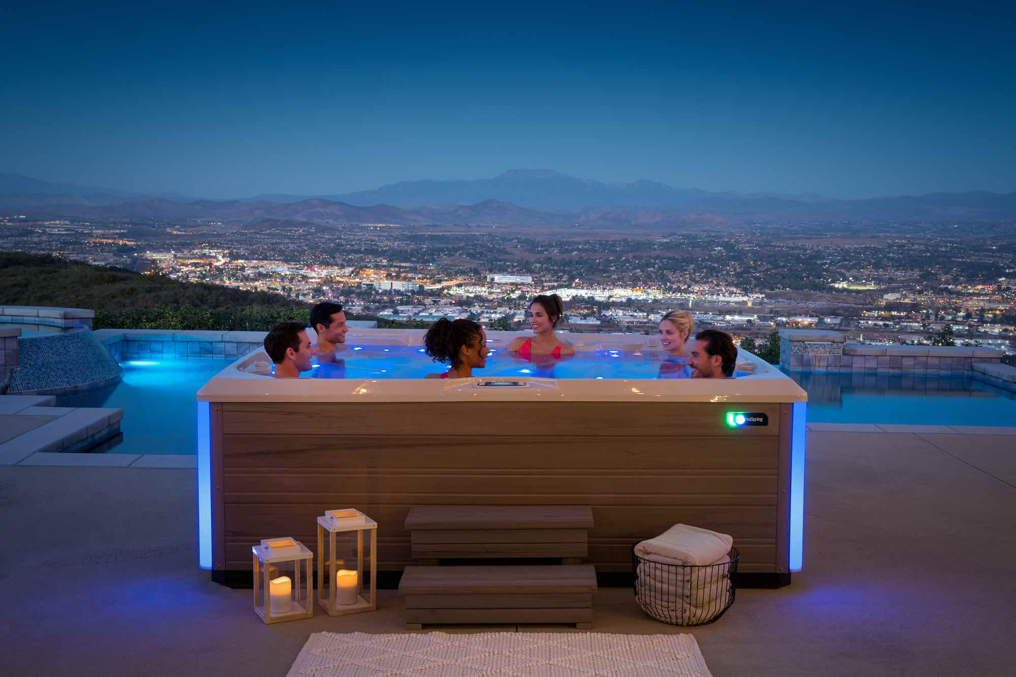 Hot Spring Spas Prism Hot Tub at Lifestyle Outdoor in Los Angeles, California