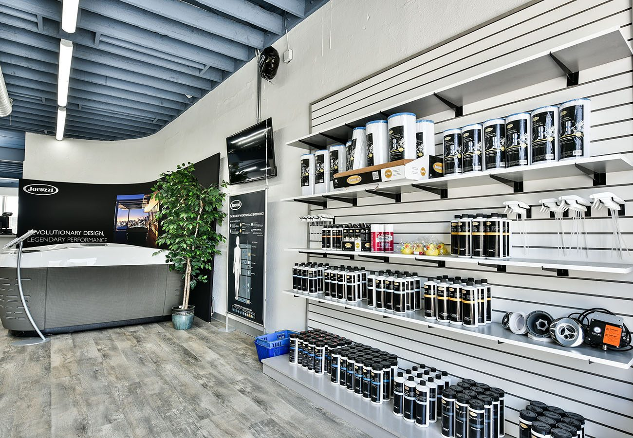 water treatment products at Lifestyle Outdoor Culver City showroom in Los Angeles