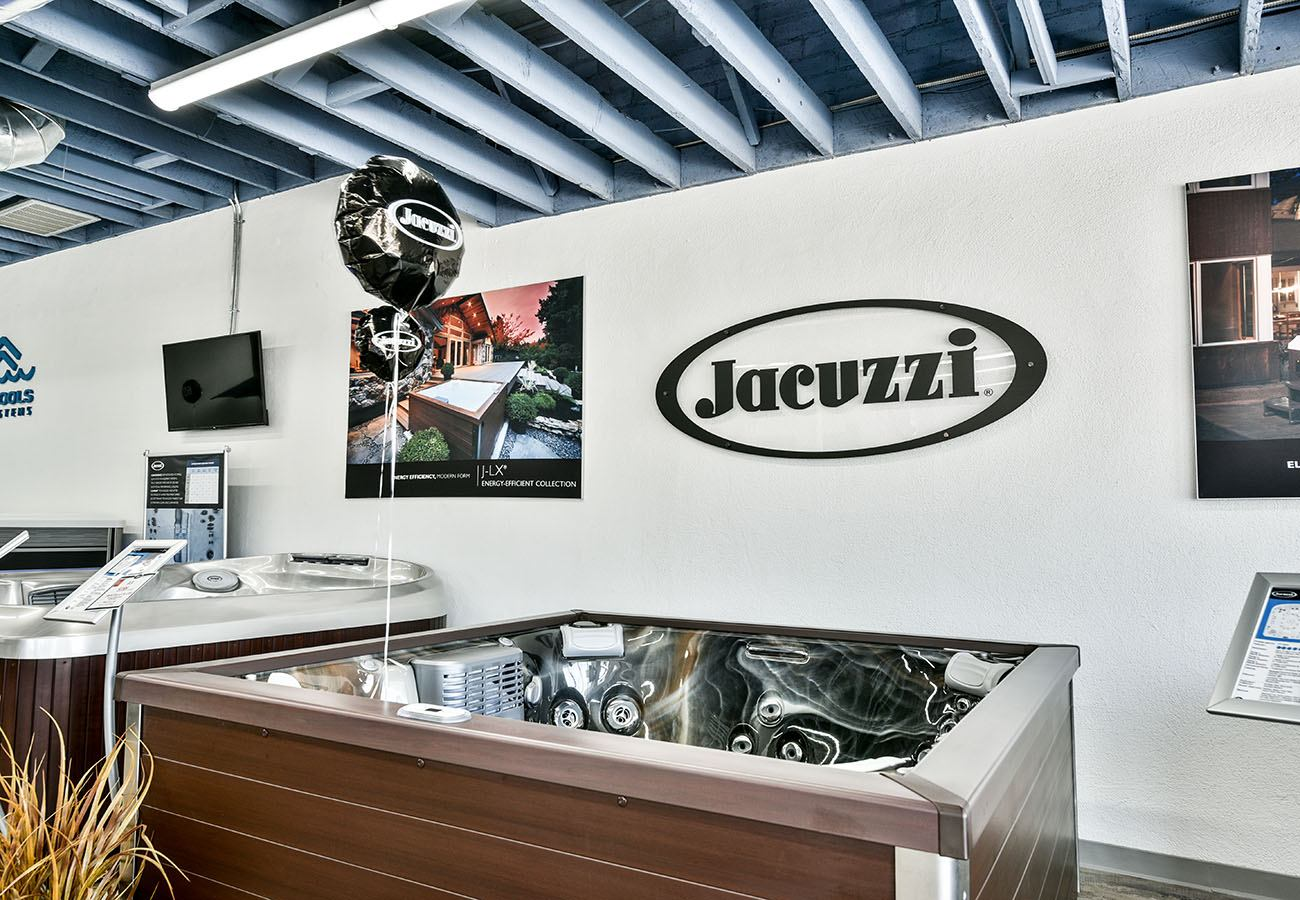 Jacuzzi Hot Tubs for sale in Lifestyle Outdoor Culver City showroom in Los Angeles