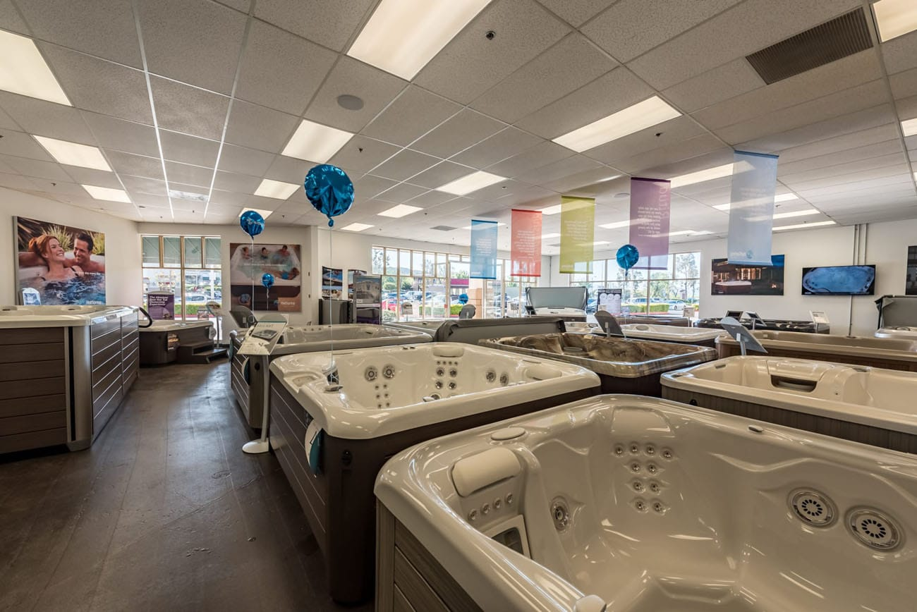 Lifestyle Outdoor Stevenson Ranch hot tubs in showroom in Los Angeles