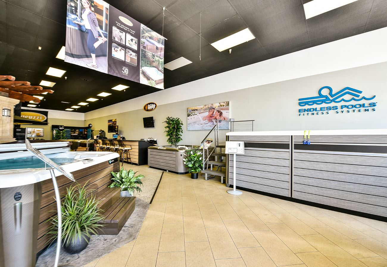 Lifestyle Outdoor Sherman Oaks spa showroom Service Deck and Endless Pools swim spas in Los Angeles