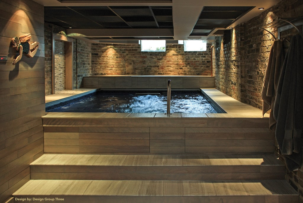 Endless Pools Swim Spa indoor Installation in Los Angeles, California